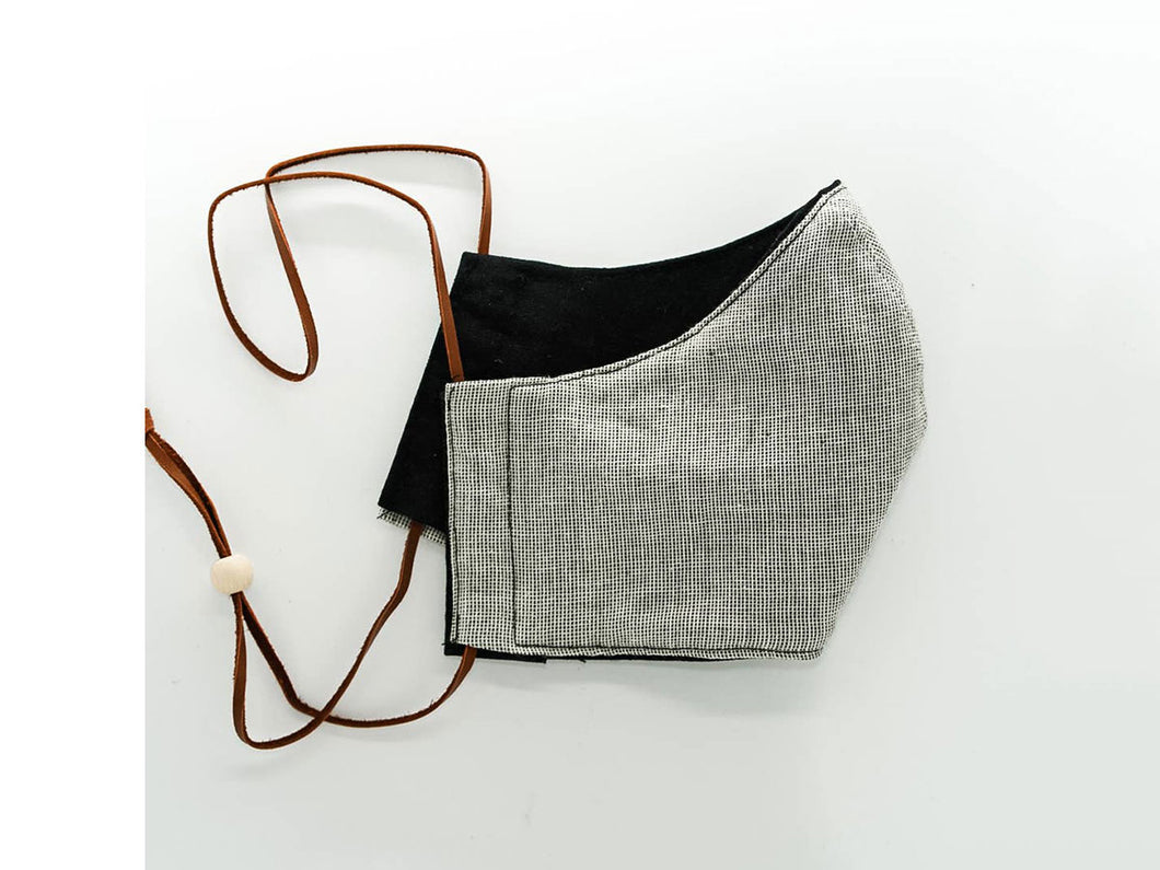 Reversible Face Mask - Black & Plaid