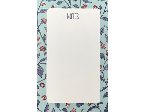 Blue Floral Pocket Notepad