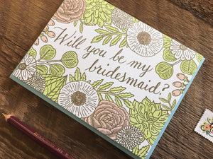 Floral Bridesmaid Greeting Card