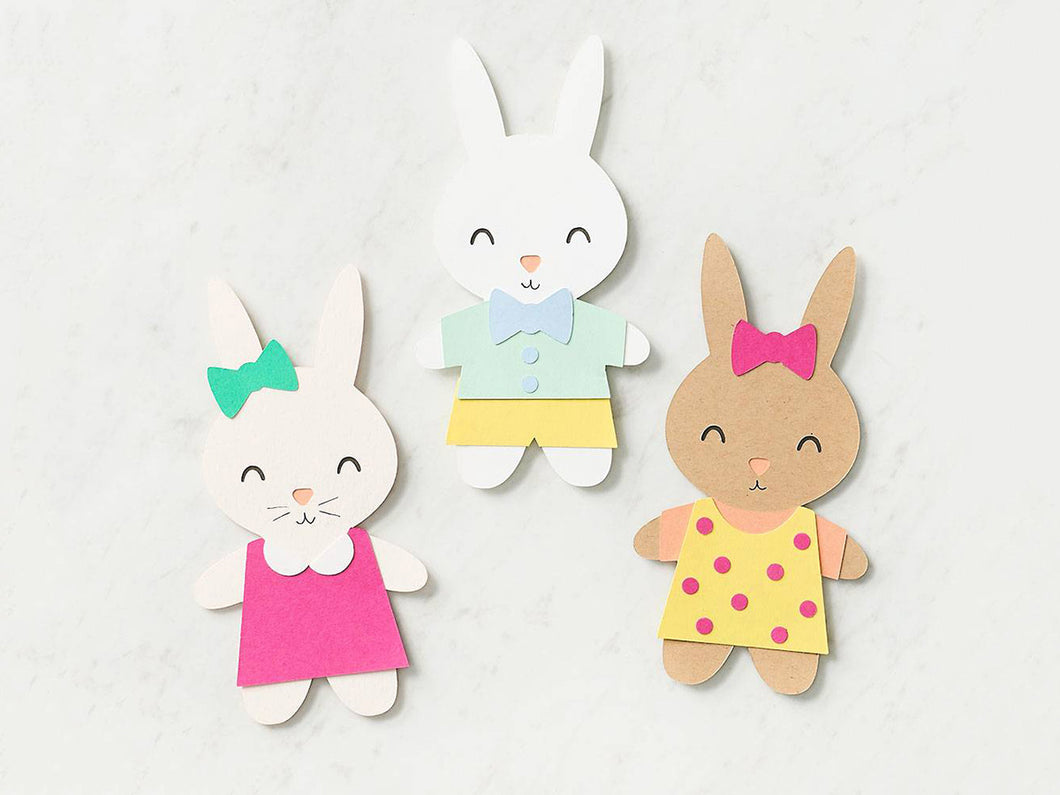 Bunny Paper Dolls Kit