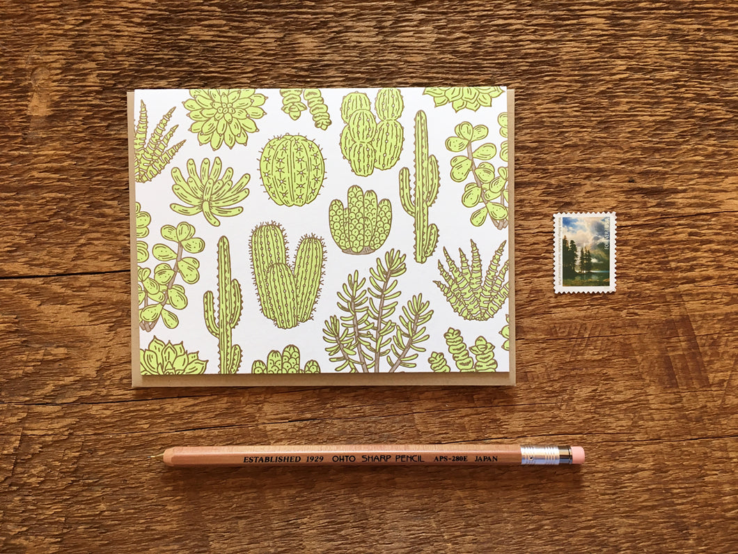 Cacti & Succulents Greeting Card