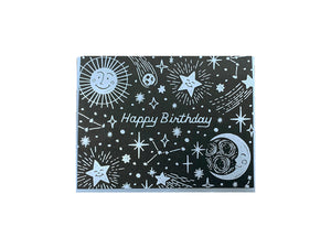 Celestial Birthday Greeting Card