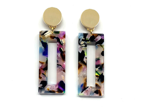Confetti Mix Acrylic Bar Earring