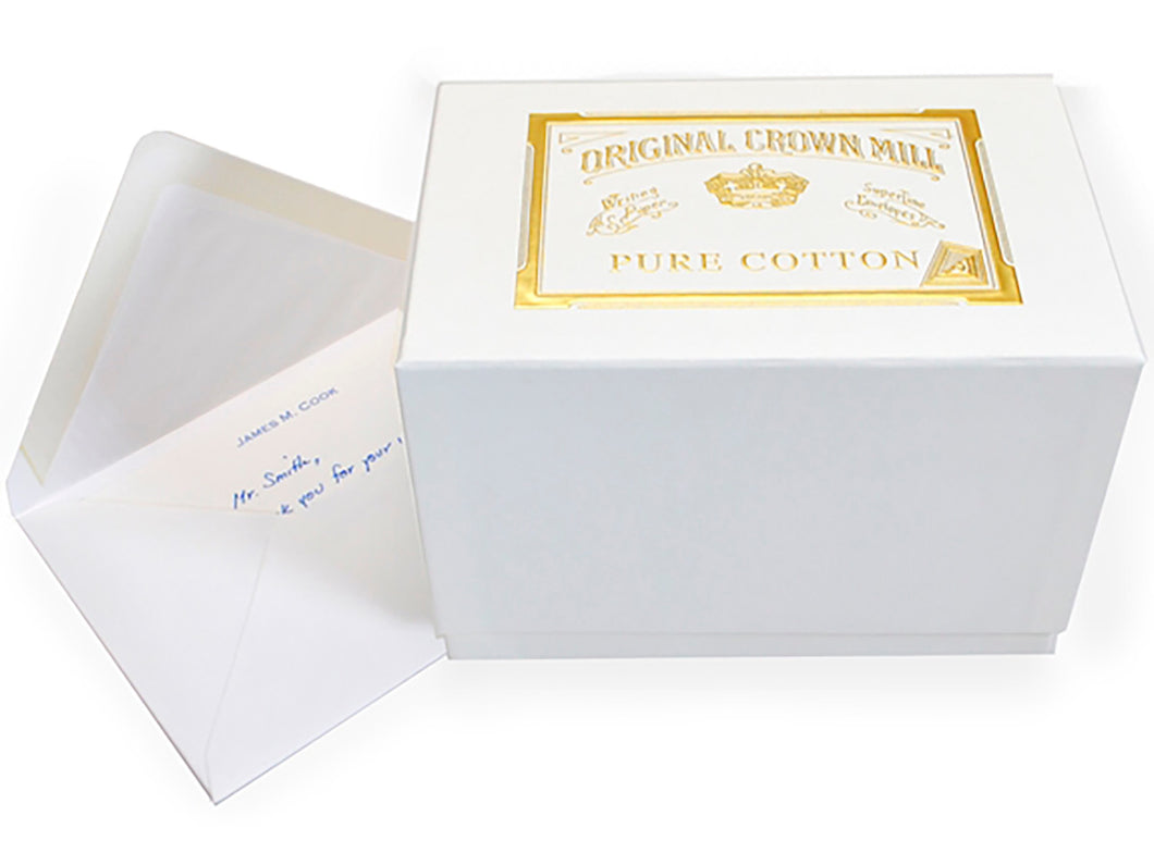 Pure Cotton Note Cards & Envelopes, Boxed Set of 50
