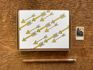 Diagonal Arrows Greeting Card
