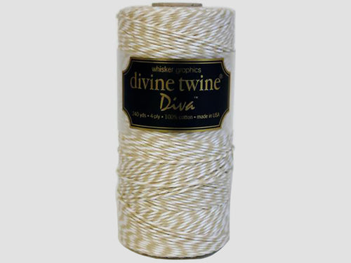 Divine Twine, 240 yds, Wheat and White Diva