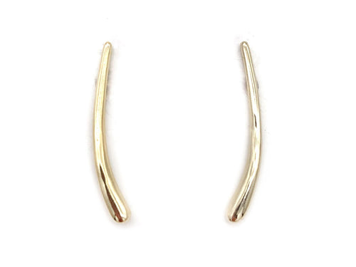 Curve Ear Climbers, Gold