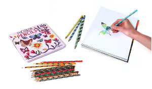 Butterflies and Flowers, Set of 24 Pencils