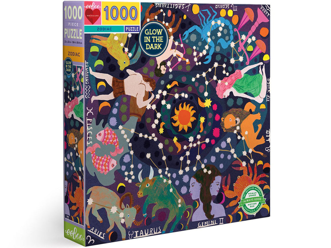 Zodiac 1000 Piece Puzzle, Glow in the Dark!