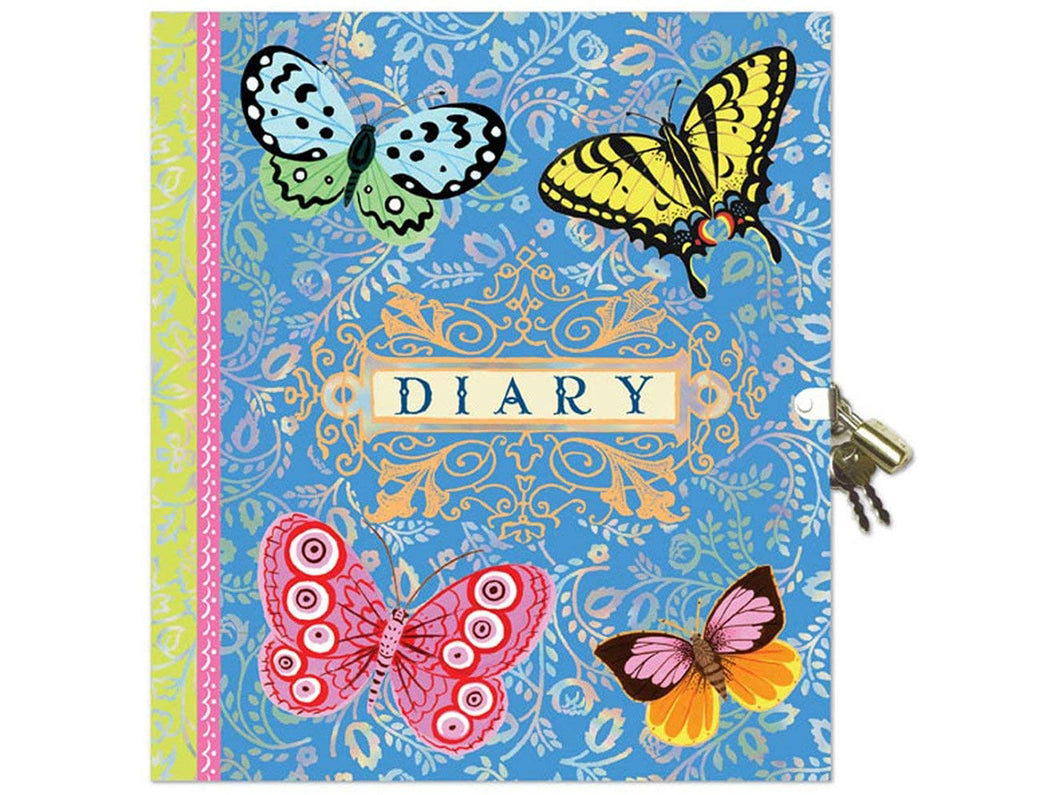 Beautiful Butterflies Diary with Lock