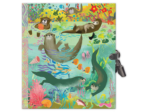 Otters Journal with Lock