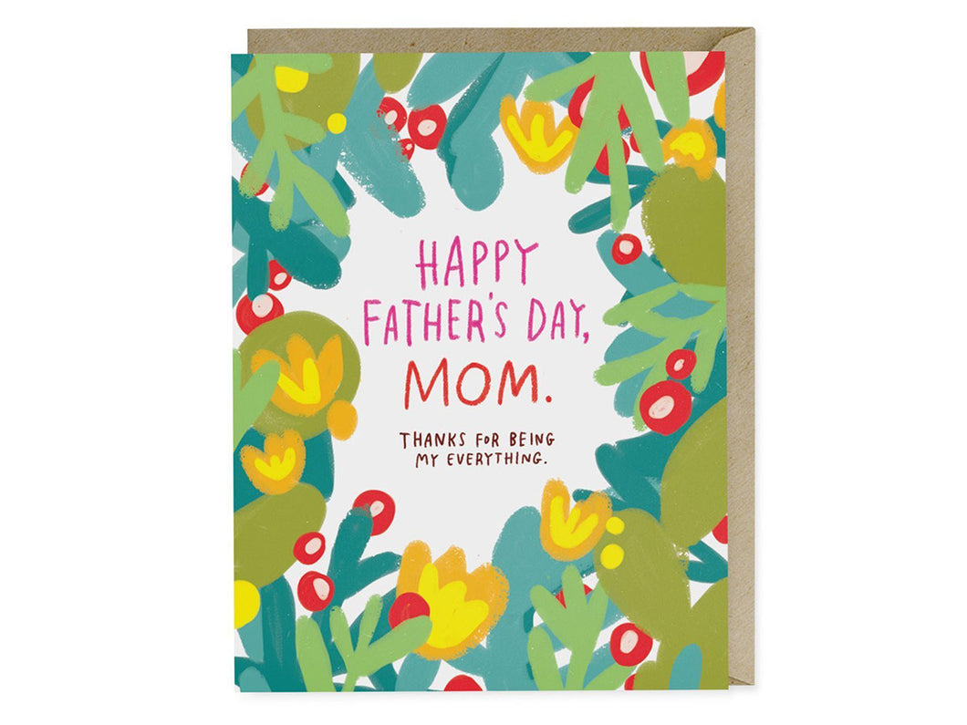 Happy Father's Day Mom, Single Card