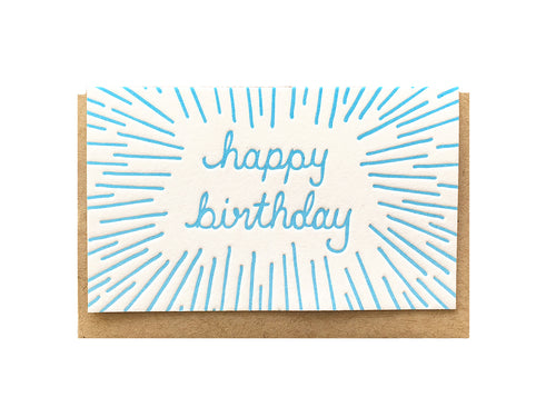 Birthday Beams Enclosure Card