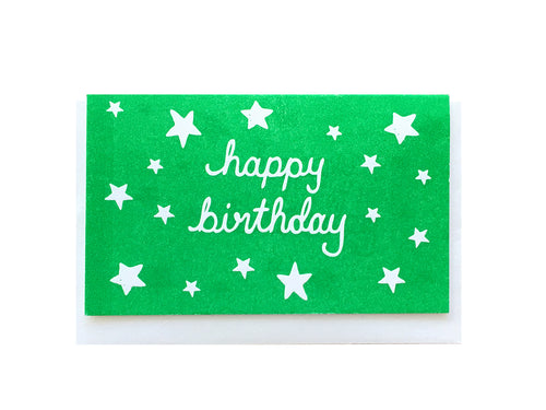 Birthday Stars Enclosure Card