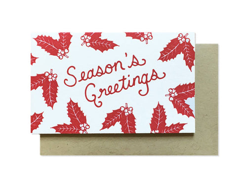 Season's Greetings Enclosure Card
