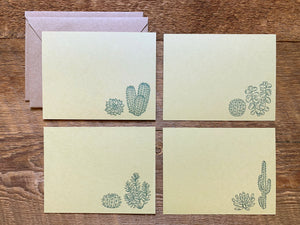 Cacti & Succulents Mixed Flat Stationery