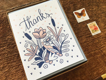 Flowers Thanks Greeting Card