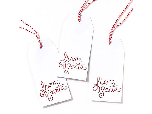 From Santa Gift Tags - Set of 10