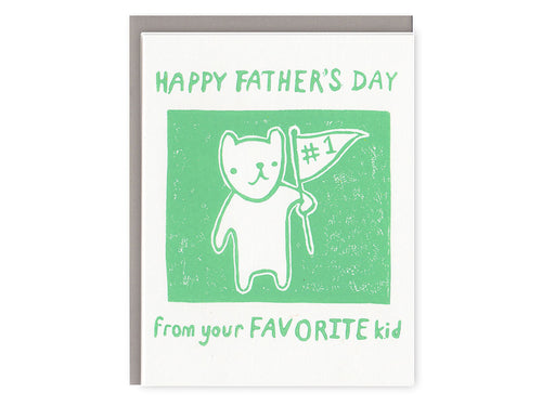 Sibling Rivalry Father's Day, Single Card
