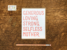 Generous Mother Greeting Card