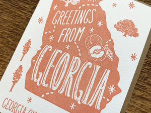 Greetings from Georgia Card