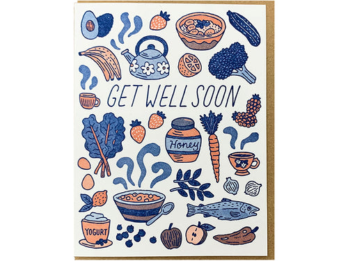 Get Well Food Greeting Card