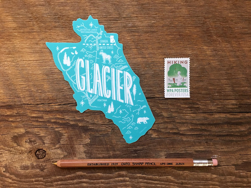 Glacier Sticker