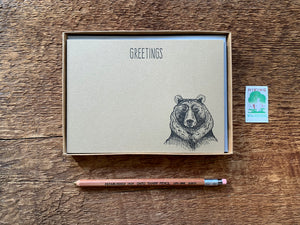 Greetings Bear Flat Stationery