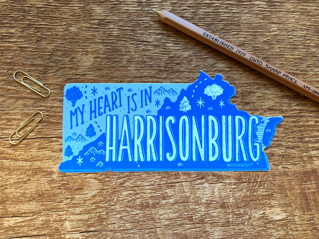 Harrisonburg Virginia Sticker