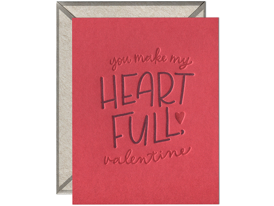 Heart Full Valentine, Single Card
