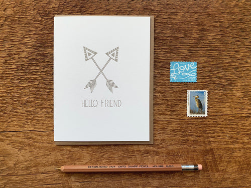 Hello Friend Greeting Card