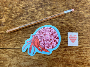 Hermit Crab Sticker