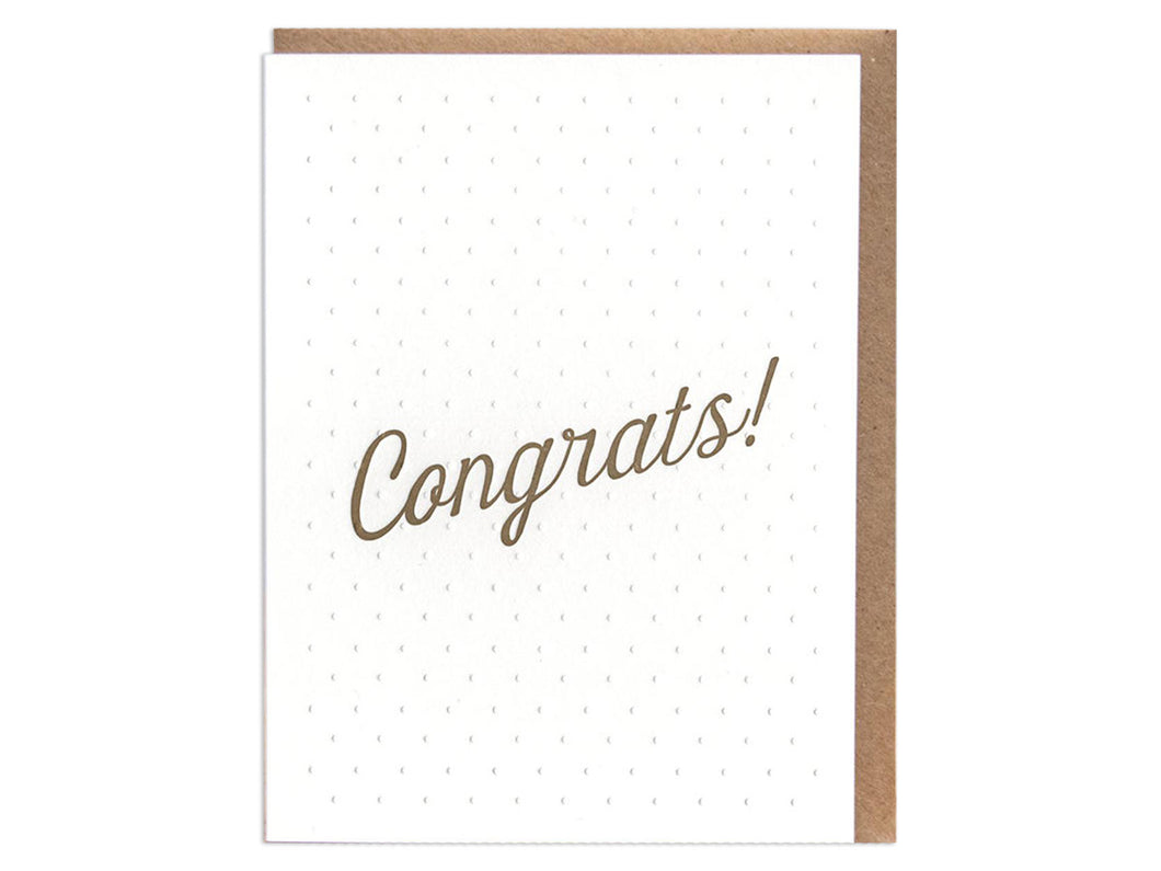 Dots Congrats, Single Card