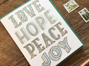 Love Hope Peace Joy