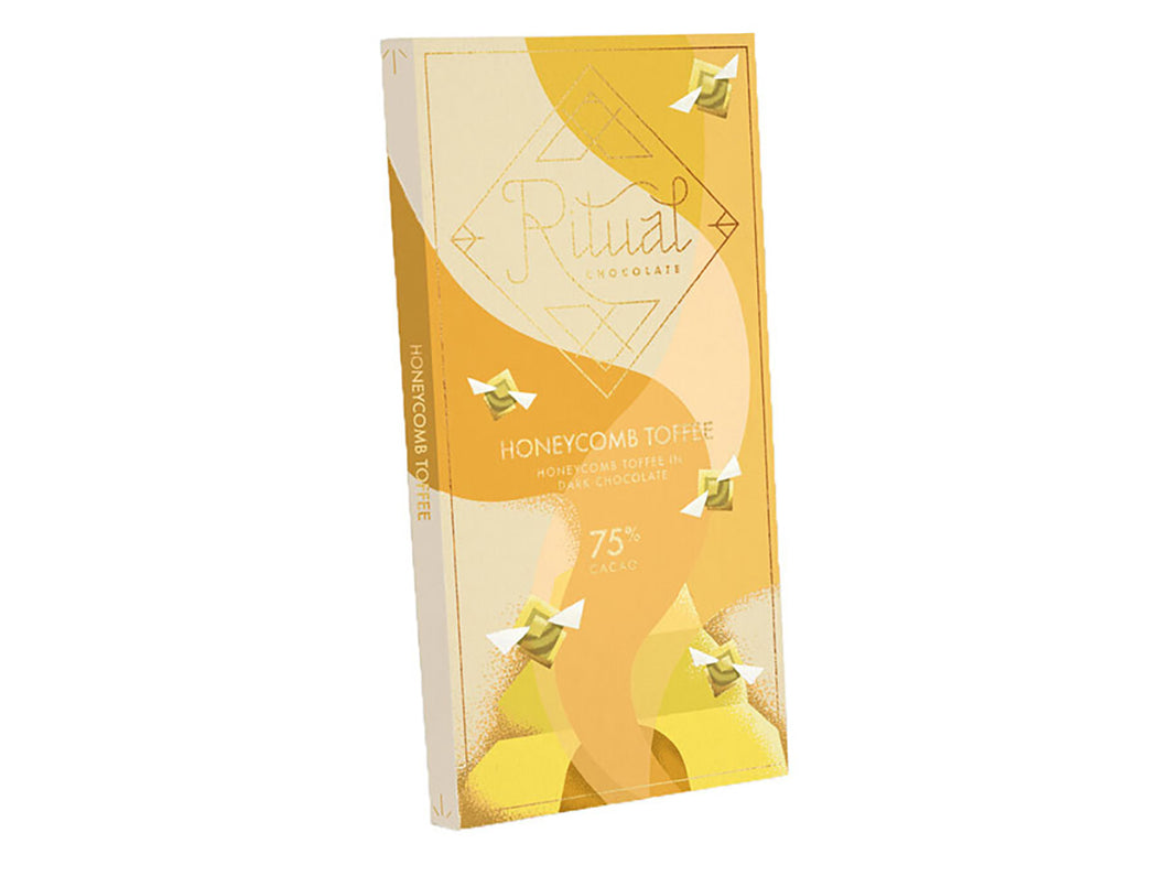 Honeycomb Toffee 75% Chocolate Bar