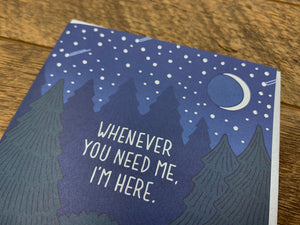 I'm Here Howling Wolves Greeting Card