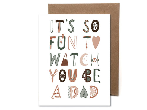 Fun to Watch You be a Dad, Single Card