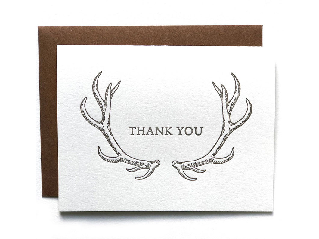 Antler Thanks Single Card