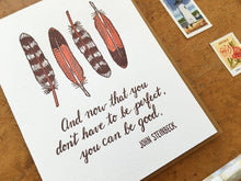 Steinbeck Quote Greeting Card