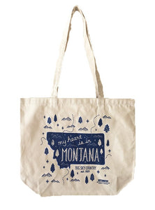 My Heart is in Montana Tote Bag