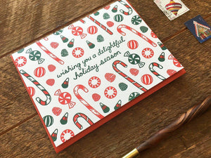 Holiday Candy Greeting Card