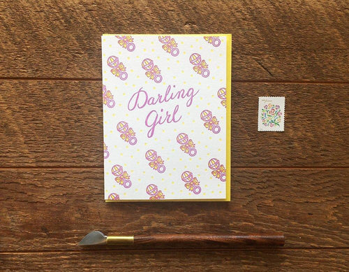 Darling Girl Greeting Card
