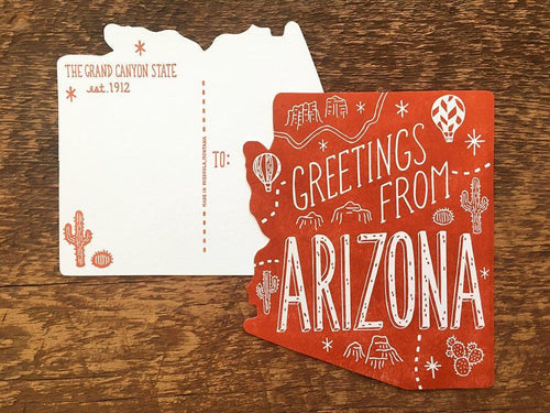 Greetings from Arizona Postcard