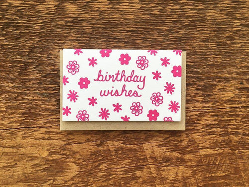 Birthday Wishes Enclosure Card