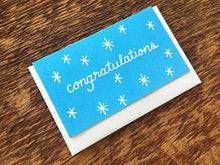 Congrats Blue Stars Enclosure Card