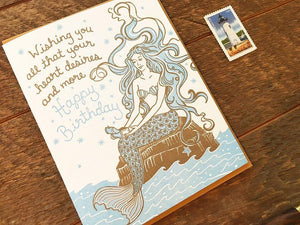Birthday Mermaid Greeting Card