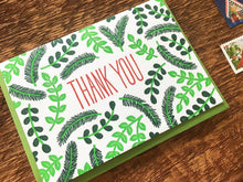 Leaves Thank You Greeting Card