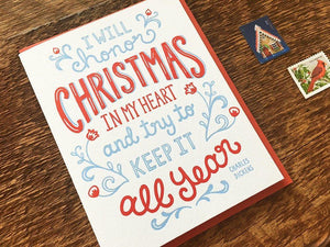 Dickens Christmas Greeting Card
