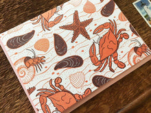 Crab Beach Greeting Card