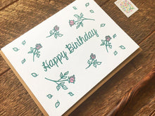 Birthday Roses Greeting Card